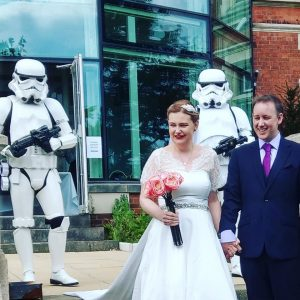 #MausWedding19 Stormtroopers with the bride and groom